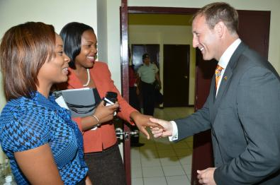 Shanoy Coombs meets Canadian Defence Minister