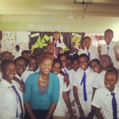 Shanoy Coombs following Career Day Presentation Immaculate Conception High