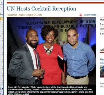 Shanoy Coombs and Colleagues at United Nations Day Cocktails