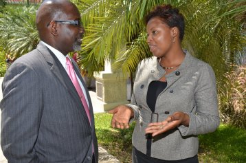 Shanoy Coombs with past State Minister under National Security Portfolio