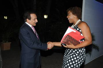 Meeting United Nations Resident Representative, Dr. Arun Kashyap Shanoy Coombs