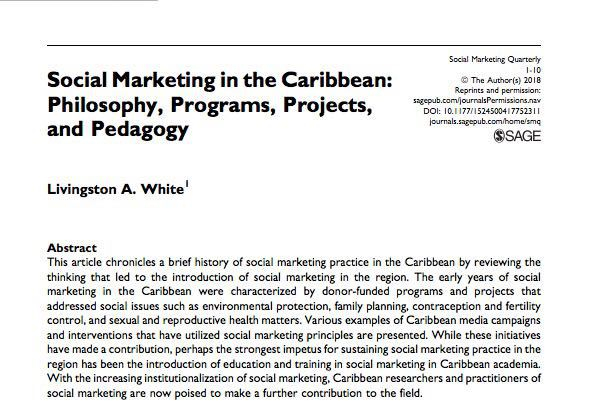 Social marketing in the caribbean www.shanoycoombs.com