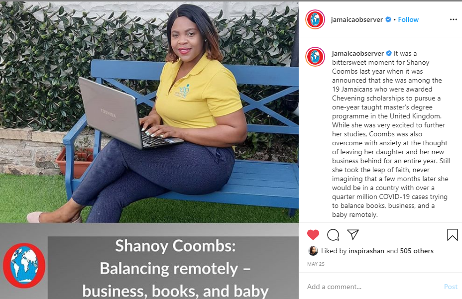 Shanoy Coombs Ja Observer feature